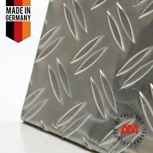 Alu Riffelblech 1,5/2mm Duett 2500x500mm Aluminium Blech Warzenblech Zuschnitt