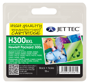 Jet-Tec-HP-300XL-Black-Ink-Cartridge-V-A-T-Included-Fast-amp-Free-UK-Shipping