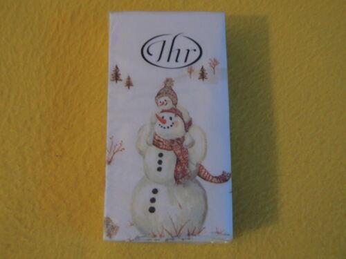 Mouchoirs Happy Hiver Day 1 boîte neuf dans sa boîte votre Serviettes Noël schneema