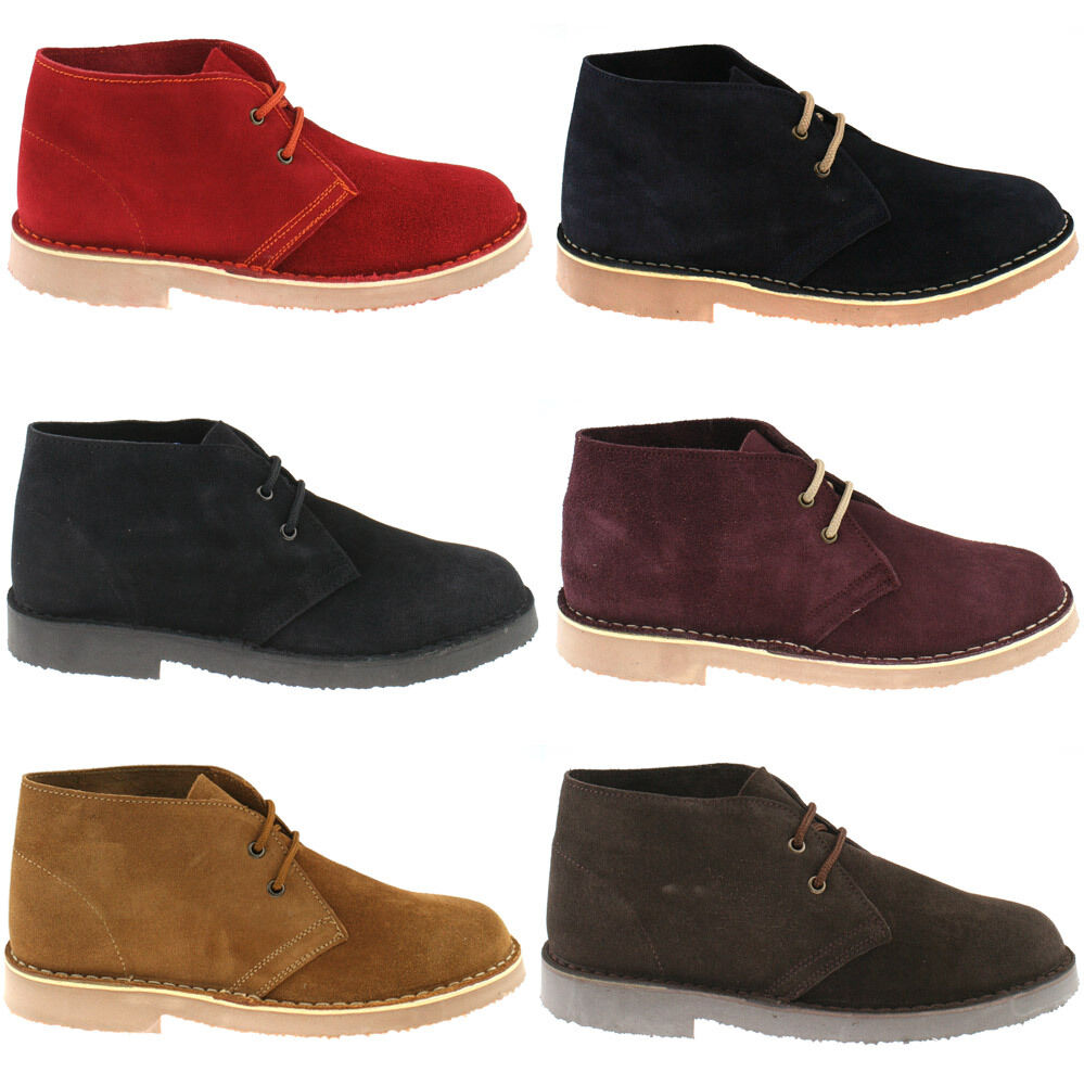 MENS ROAMERS SUEDE LEATHER DESERT BOOTS SIZE CLASSIC ANKLE M467 KD