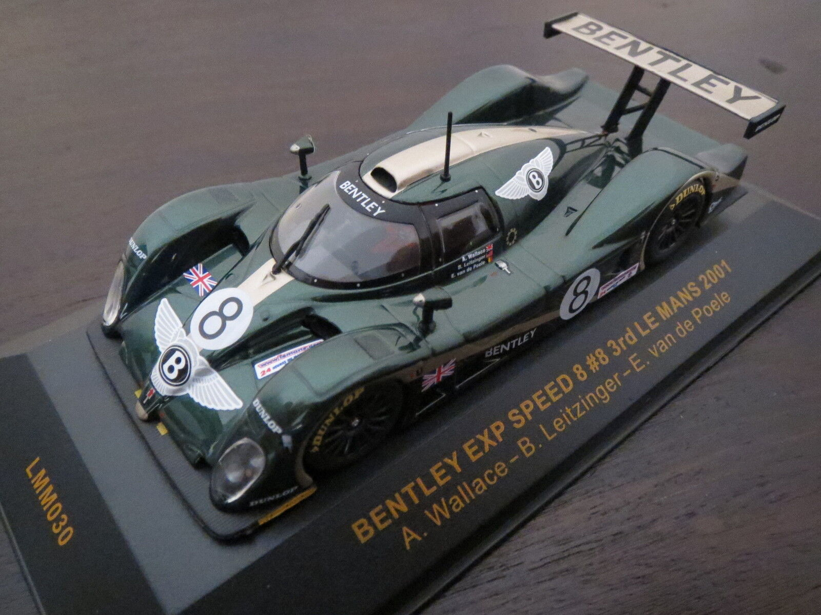 Rarità: IXO MODELS Bentley EXP Speed 8  8 3rd Le Mans 2001, brg, 1:43, Top