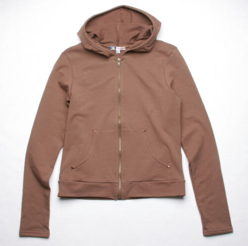 BROWN BEJEWELED BY SUSAN FIXEL COUTURE INDIGO HOODY