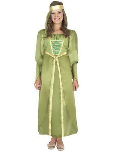 Girls-Maid-Marion-Book-day-costume-Kids-maiden-dressing-up-outfit-party-outfit