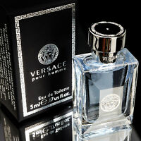 Versace Perfume Pour Homme Eau De Toilette 5ml 0.17oz Mini Parfum Men's Cologne