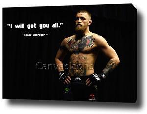 Conor McGregor Knockout Imprimé Photo sur encadrée Photo sur toile Wall Art Decor
