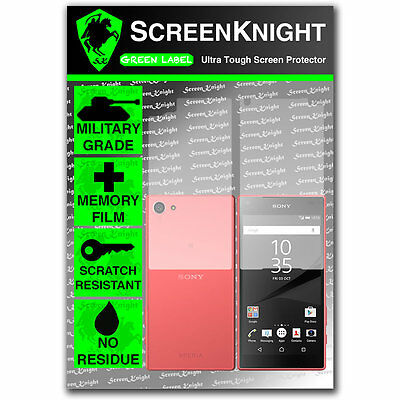 ScreenKnight Sony Xperia Z5 Compact FULL BODY SCREEN PROTECTOR military shield