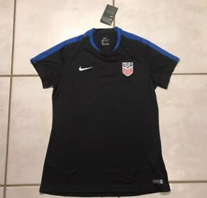 8528e70ae29000 NWT NIKE USA National Team BLACK Training Soccer Jersey Women's ...