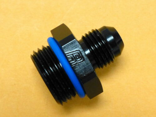 10 AN ORB Russell 670650 Radius Port Adapter Reducer Straight Male 6 AN Black