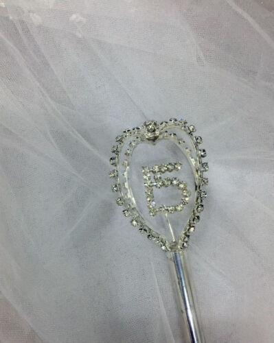 """Crystal Rhinestone Scepter 4 Side With 15//16 19/""""Tall.3/"""" Top.Pick Your Color!"""