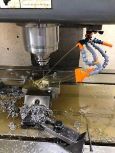 "universal 1//4/"" Swivel Nozzle with connector Flex Coolant Hose pack 2"