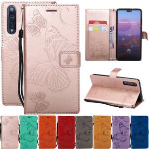 Pour-Huawei-P20-Lite-P8-P9-P10-en-Cuir-Flip-Portefeuille-Carte-Magnetique-Etui-Support