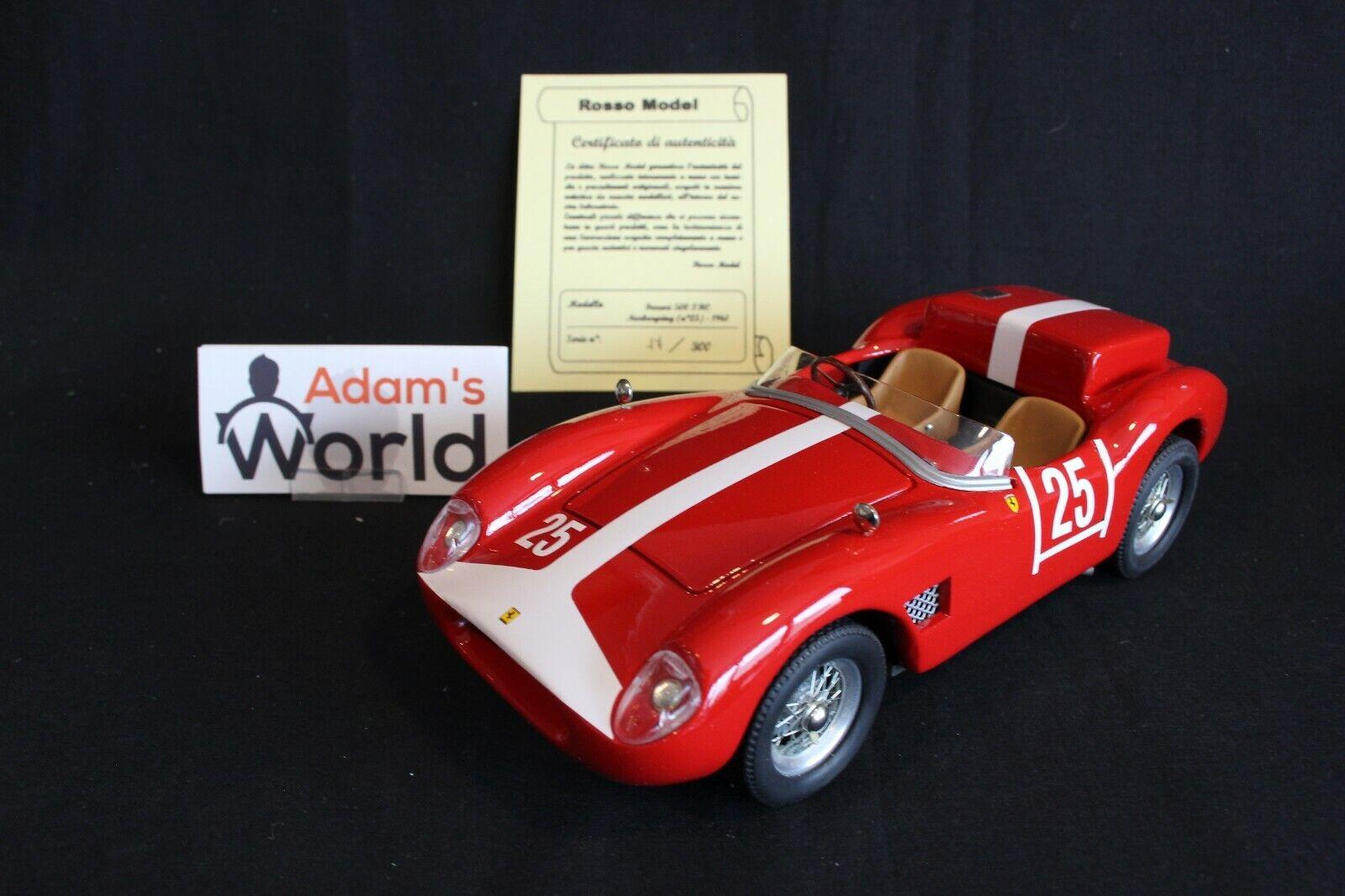 Rosso Model Ferrari 500 TRC 1961 1 18  25 Siffert   Liebl Nürburgring (PJBB)