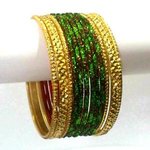 Indische Armreifen Ø6cm Schmuck Armband Bollywood Anarkali Sari EID Churiyan