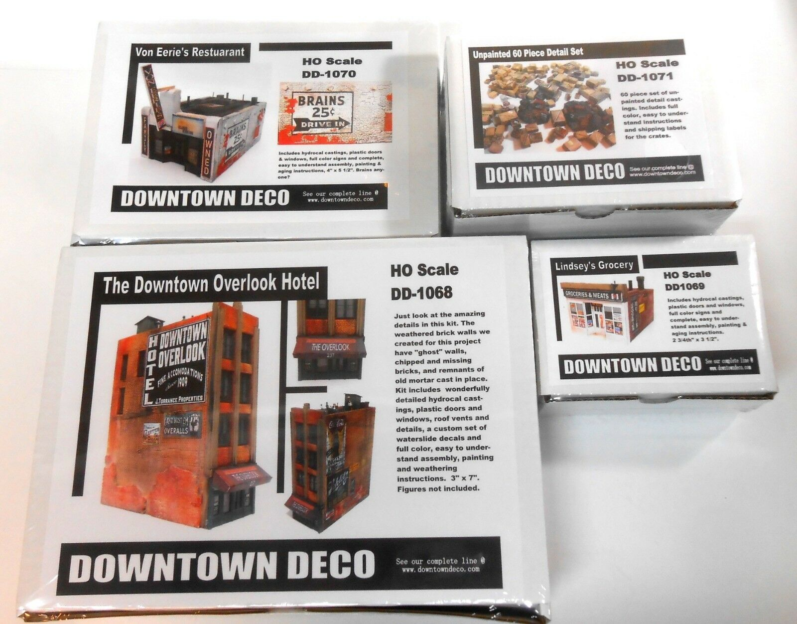 Downtown Deco HO Scale 3 Nuovo Kits Combo Special. Save  70 + Free Bonuses