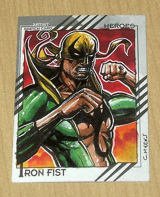 2015 Marvel Fleer Retro IRON FIST BASE Trading Card #28 Upper Deck
