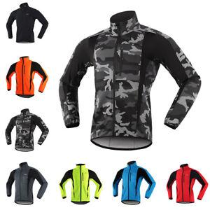 Cycling-Racing-Jacket-Windstopper-Winter-Thermal-Windproof-Long-Sleeve-Bike-Coat