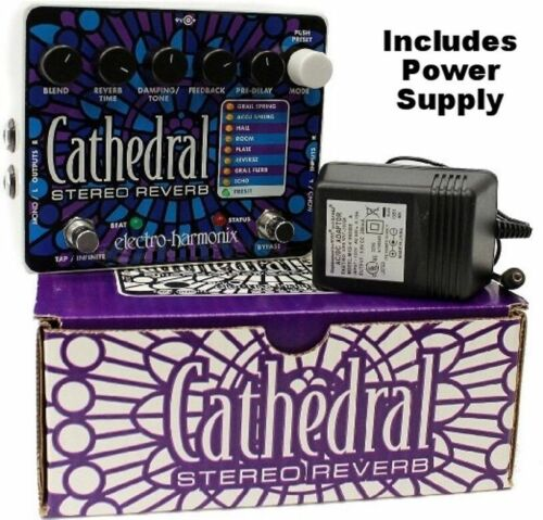 New Electro-Harmonix Cathedral Stereo Reverb Guitar Effects Pedal EHX