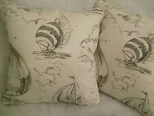 "SPINNAKER BY JANE CHURCHILL 1 PAIR OF 18"" CUSHION COVERS"