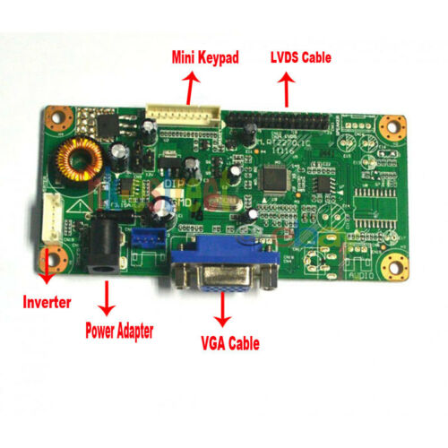 """RT2270 VGA LCD Controller Board For 17.1/"""" LP171WX2 LP171WX2-A4K1 1440*900 30Pin"""