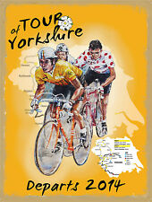 Cycle Road Race, Tour of yorkshire, Cycling, Bike, Small Metal/Tin Sign, Picture