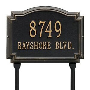 Whitehall-Williamsburg-Raised-Plaque-Address-House-Numbers-Custom-sign-Lawn-Yard