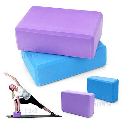 Yoga Block Brick Foaming Foam Home Exercise Practice Fitness Gym Sport Tool New