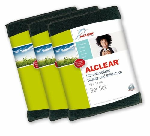 ALCLEAR® 3-er Set Ultra-Microfaser DISPLAYTUCH anthrazit 19x14cm 950003A