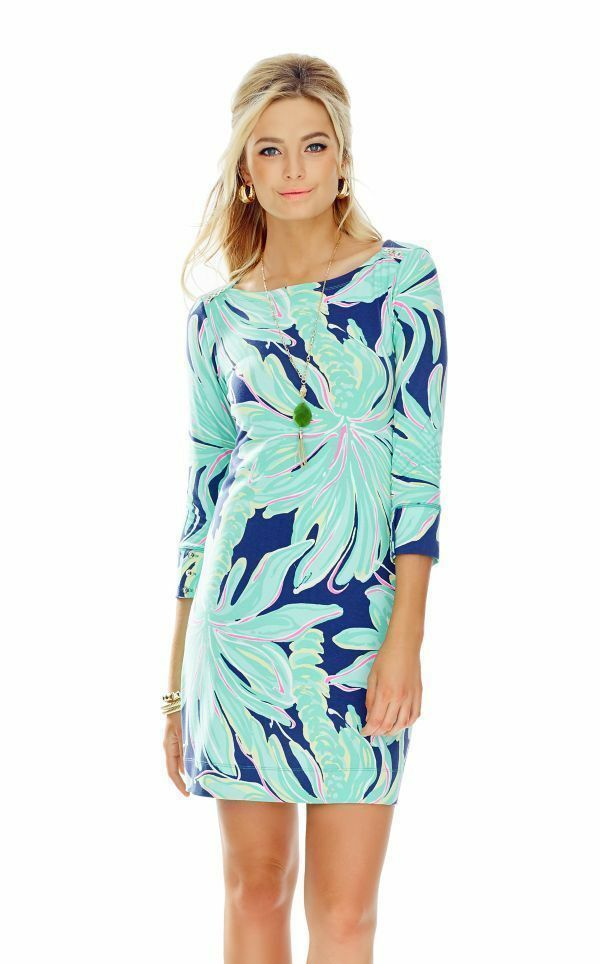 Lilly Pulitzer Sophie Dress Tiger Palm Bright Navy Upf 50+ Women Size Sm New