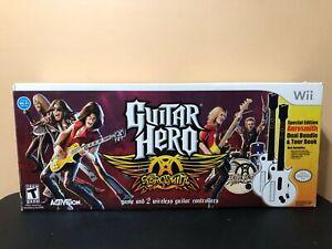 Nintendo-Wii-Guitar-Hero-Aerosmith-Special-Edition-Dual-Guitars-Bundle-NOB