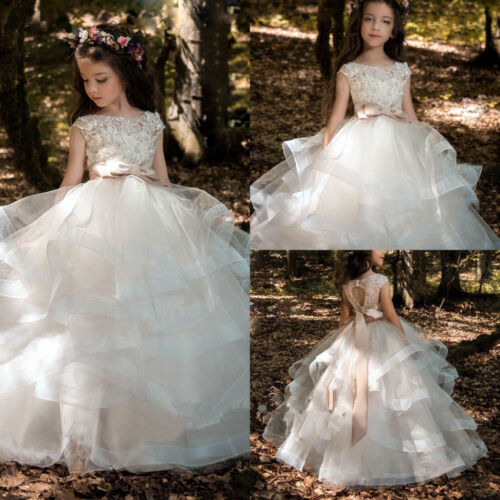 Flower Girl Dress Princess Kids Pageant Party Dance Wedding Birthday Gown dress
