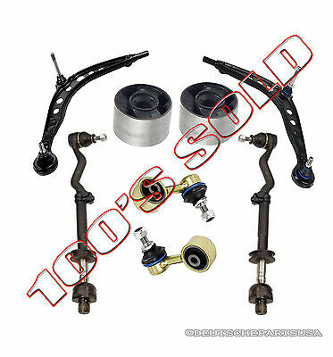 CONTROL ARM ARMS BALL JOINT JOINTS Bushing Tie Rod Sway Bar Link 8 for BMW E46