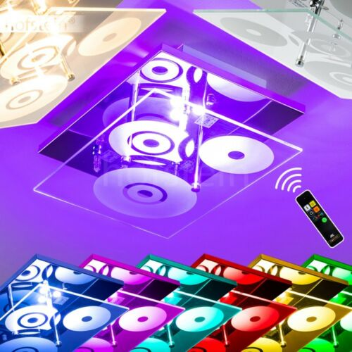 LED Design Decken Leuchte Farbwechsel Wohn Schlaf Zimmer Wand RGB Fernbedienung