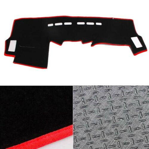 NonSlip Dash Mat Cover Black with Red Edge for 2005 082015 Toyota Hilux