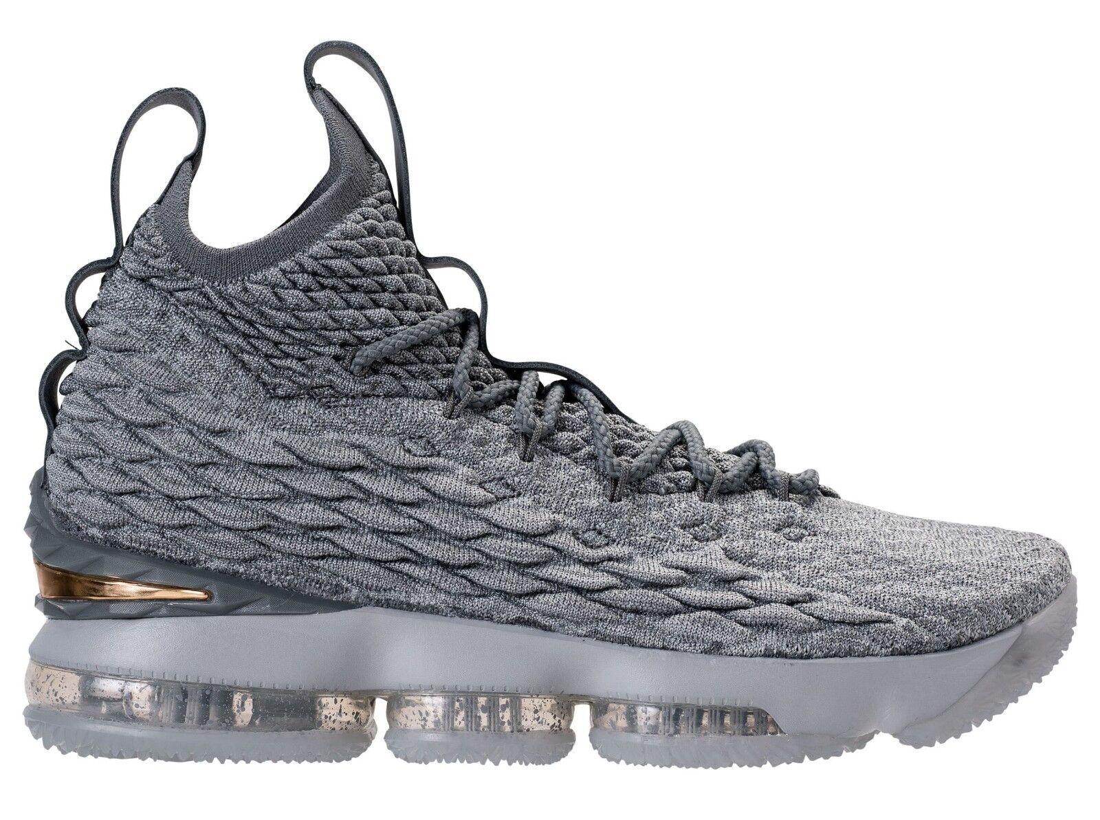 Nike Lebron 15 XV size 13. Wolf Grey Metallic Gold.  897648-005.
