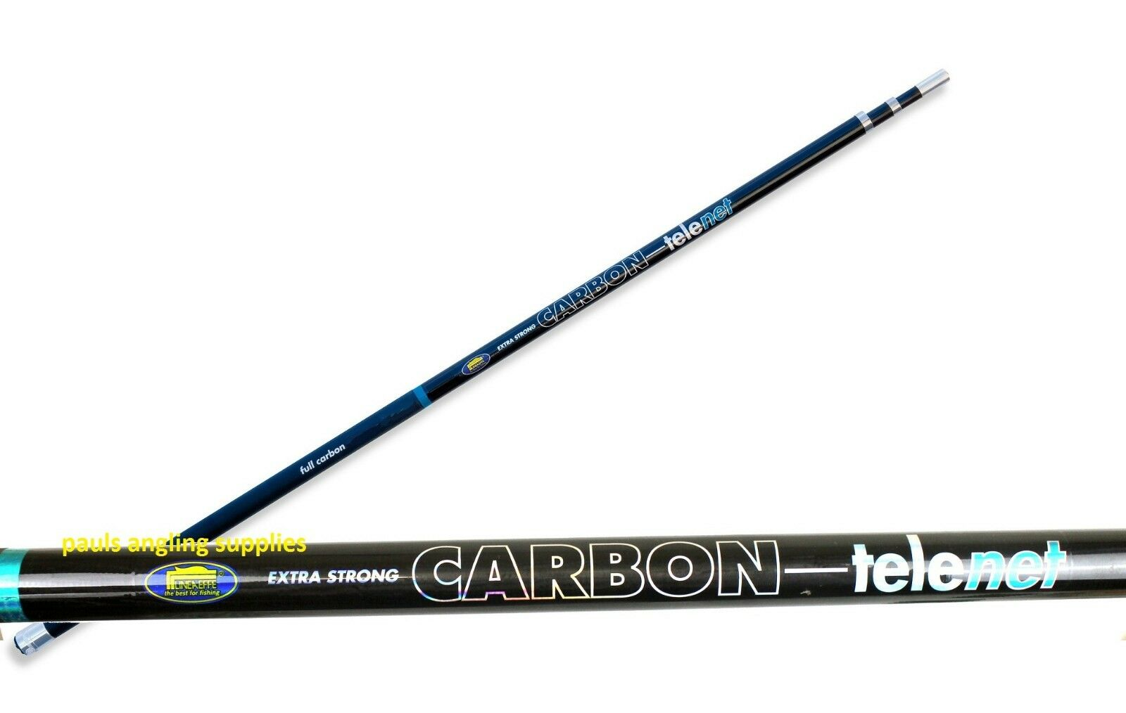 19 ft FULL CARBON 6 Metre Tele Fishing Landing Net Handle Universal Thread