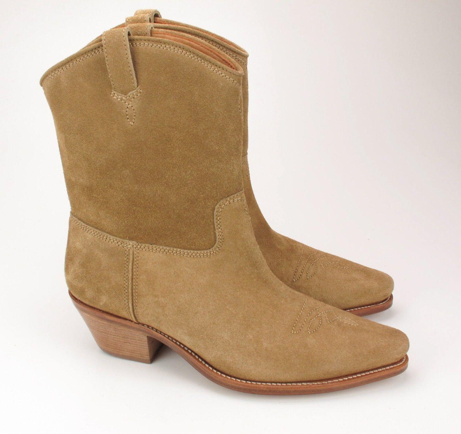 New Ralph Lauren Purple Label Olin Tan Suede Western Style Boots 10.5 D