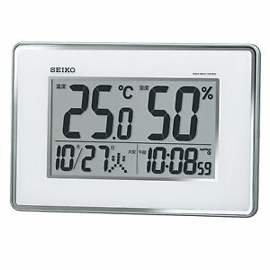 151c2438342 SEIKO CLOCK Wall clock Table clock Both Radio wave digital calendar ...