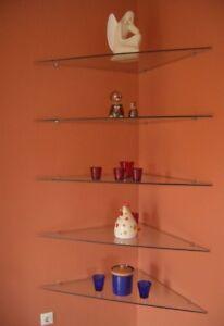 Eckregal-Wandregal-Glasablage-Glas-Glasregale-TOP-siehe-Foto-Abholung-Erbach-Odw