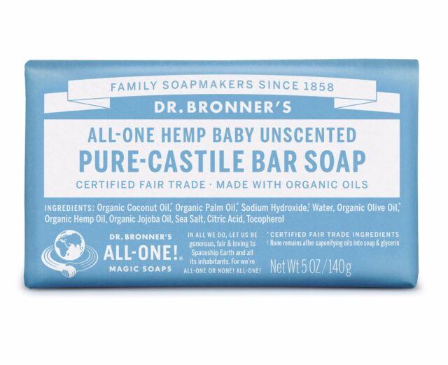 DR BRONNER`S MAGIC FAIRTRADE PURE BABY MILD CASTILE SOAP 140g