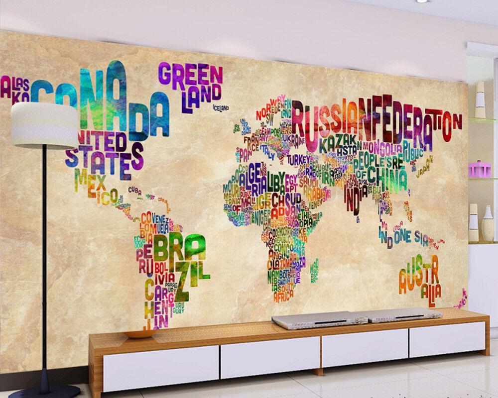 3D Farbige Weltkarte 854 Tapete Wandgemälde Tapete Tapete Tapete Tapeten Bild Familie DE | Der neueste Stil  | Attraktive Mode  |  7e74e7
