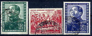 E-GERMANY-1951-Friendship-with-China-set-fine-used