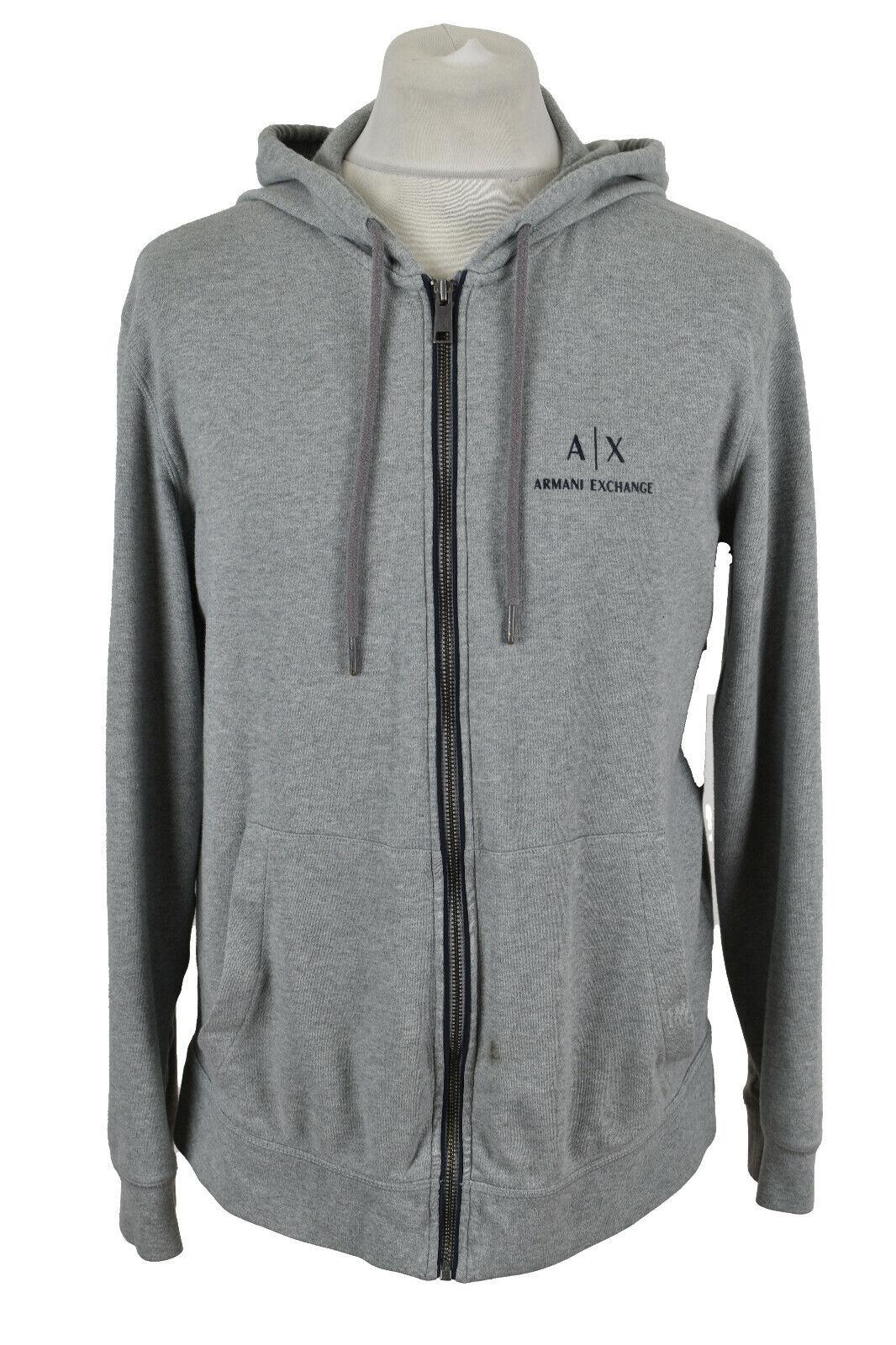 ARMANI EXCHANGE Grey Full Zip Hoodie size XL