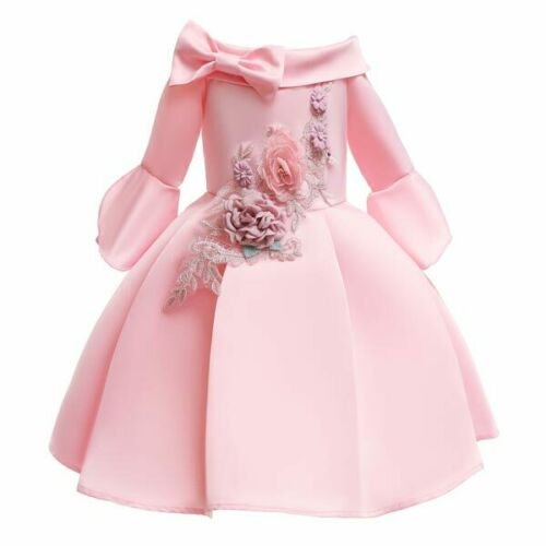Party kid girl bridesmaid dress flower tutu formal dresses wedding princess baby
