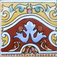 9 Mexican Tiles Wall Or Floor Use Talavera Mexico Ceramic Handmade Pottery C083