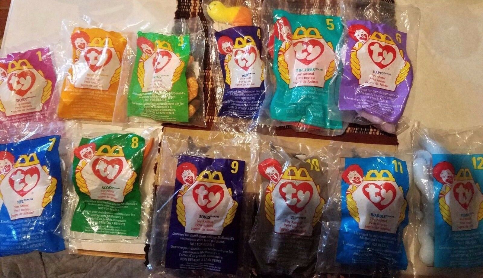Complete 1998 1998 1998 McDonald's ty beenie baby collection 1-12 e025f2