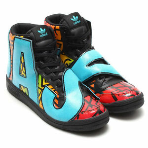 7c851735d151 Image is loading Adidas-Originals-JS-Jeremy-Scott-multicolor-letters-D65213-
