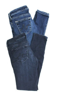 AG-Adriano-Goldschmied-Womens-Low-Rise-Skinny-Jeans-Blue-Cotton-Size-24-Lot-2