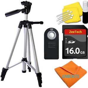 "50"" VIVITAR PRO TRIPOD + REMOTE CONTROL + 16GB SD CARD FOR NIKON DSLR CAMERAS"