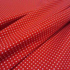 Stoff Meterware Baumwolle Baumwollstoff rot weiß Punkte 2 mm  Pünktchen