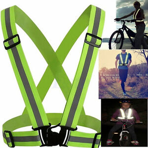 Security Outdoor Night Safety Reflective Vest Belt High Stripe Straps Night Running Jogging Biking Men's Belts